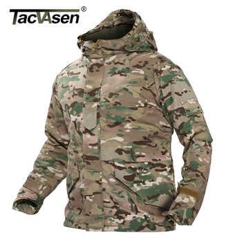 TACVASEN Men\'s Military Camouflage Jackets With Hood Winter Fleece Lining Tactical Jacket Coat Hooded Windproof Airsoft Outwear - DISCOUNT ITEM  35 OFF Men\'s Clothing