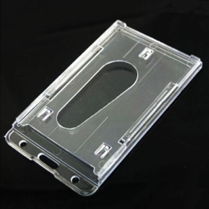 100x60mm Transparent Thumb Slide Out Plastic Pocket Business Credit ...