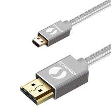 كابل مايكرو HDMI ، نوع HDMI D إلى HDMI نوع دعم ثلاثية الأبعاد ، 4K للهواتف الذكية المجهزة بلاك بيري Z30 ، آسوس Zenbook اللوحي ، الذهاب برو