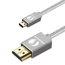 Micro HDMI Kabel, HDMI Typ D auf HDMI Typ A Unterstützung 3D, 4K FÜR Ausgestattet BlackBerry Z30 Smartphone, Asus Zenbook Tablet, Gehen Pro