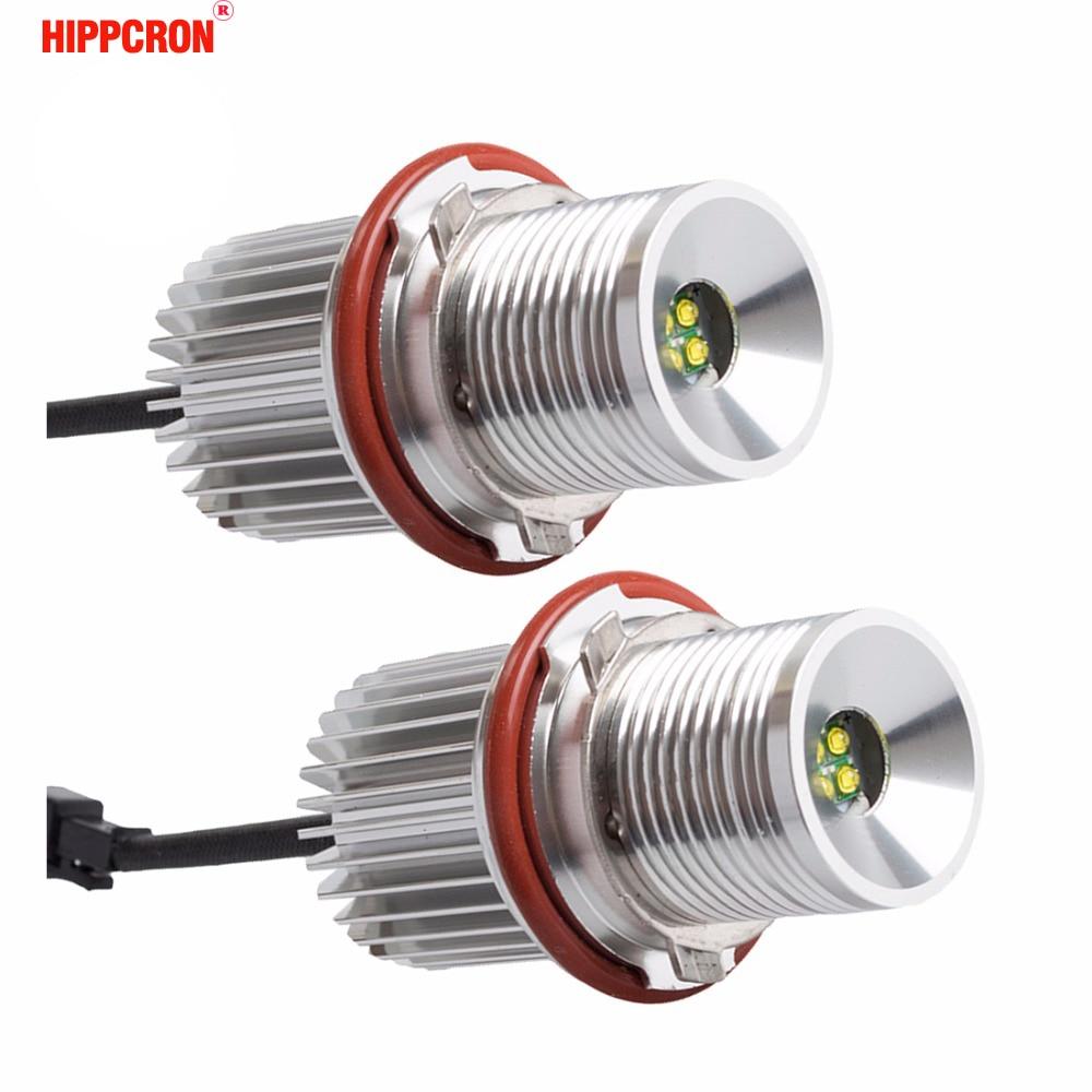 hippcron LED Marker Angel Eyes 2*20W 40W for CREE LED Chips for Bridgelux Chip White/Red/Blue/Yellow for E39 E60 E61 E63 E64 E65 цена