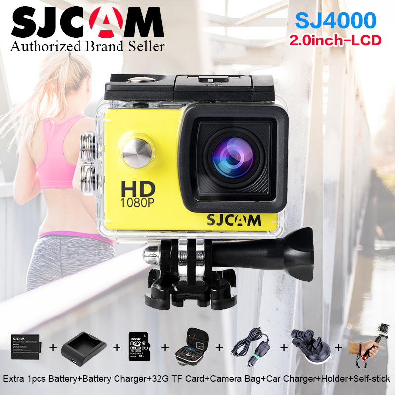 Original SJCAM SJ4000 Action Video Camera Waterproof 30m Diving SJ CAM 4000 Basic Sport DV 1080P Full HD Mini Helmet Camcorder sj4000 wifi full hd 1080p camera sport 2 0 lcd sj 4000 helmet cam go waterproof camera pro style sport dv mini camera sport