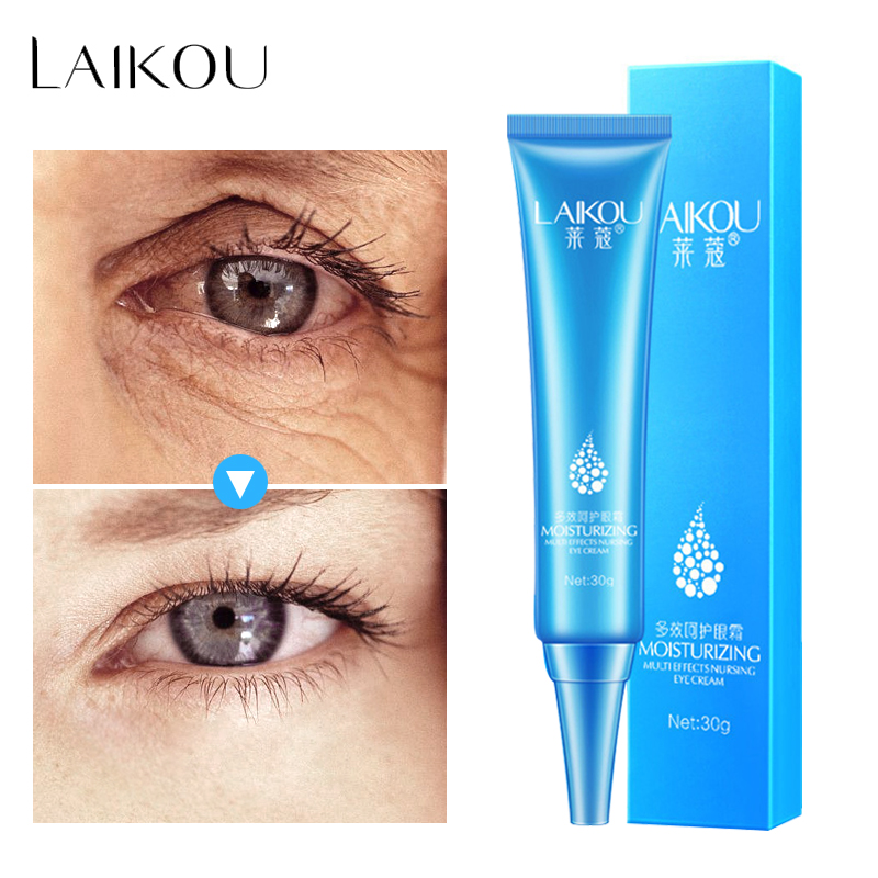 LAIKOU Hyaluronsyre Eye Serum Cream Anti-Puffiness Fjern Rynk Anti-Aging Remover Mørk Sirkler Eye Gel Essence Skin Care