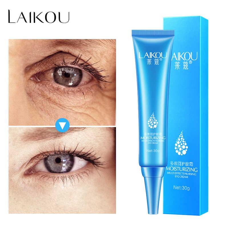 Laikou Asam Hyaluronic Eye Serum Cream Anti-Bengkak Hapus Kerut Anti-Aging Penghilang Lingkaran Hitam Mata Gel Essence perawatan Kulit
