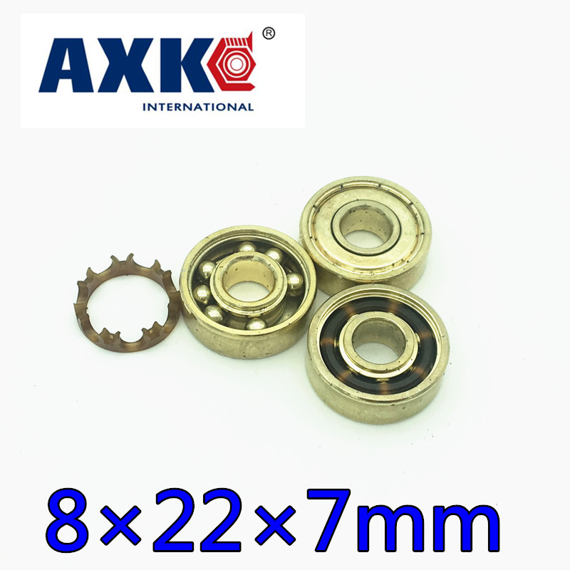 2019 New Free Shipping 16pc/set Golden 8x22x7mm 608z Ilq-11 Inline Skateboard Speed Skate Bearing Roller Skating Longboard 608