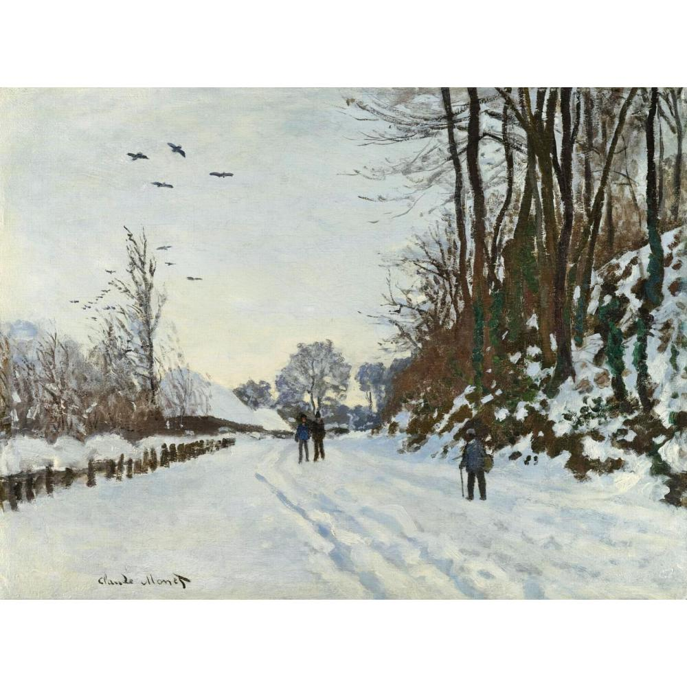The Road to the Farm of Saint-Simeon in Winter of Claude Monet art oil paintings Canvas reproduction hand-paintedThe Road to the Farm of Saint-Simeon in Winter of Claude Monet art oil paintings Canvas reproduction hand-painted