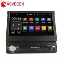 Asvegen 1 Din gps навигации автомобиля радио выдвижной Экран авто FM Media мультимедийный плеер транспортных средствах MP5 автоматическое открытие