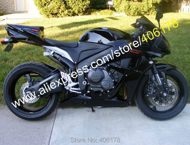 Hot Sales,For Honda CBR 600RR 2007 2008 CBR600RR CBR 600 RR 07 08 F5 All Black ABS Motorcycle fairing Kit (Injection molding) hot sales for honda cbr600rr 2003 2004 cbr 600rr 03 04 f5 cbr 600 rr blue black motorcycle cowl fairing kit injection molding
