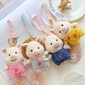 1/Pcs 11 CM Mini Llaveros Lindos Pequeños Cerdos 2016 Nuevos Suave Peluche Muñecas Encantadoras Mini Cerdos Para Niños Regalos de recuerdo