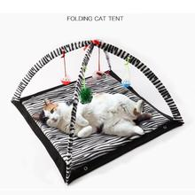 цены на Pet Portable Crawling Play Tent Dog House Cage Dog Cat Tent Playpen Puppy Kennel Black And White Stripes  в интернет-магазинах