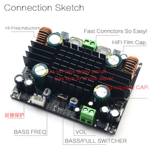 Image 4 - CIRMECH TPA3116 High power Car Audio Amplifier Board Mono 150W TPA3116D2 Amplifier Built Double Booster System Amplifier