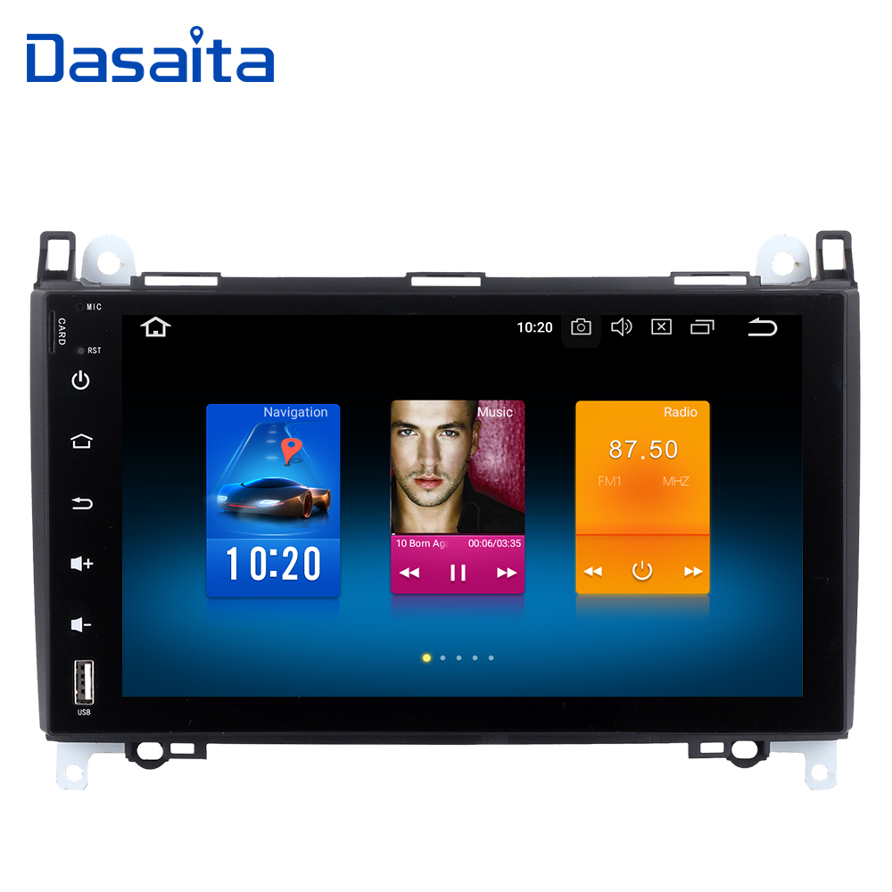 9 2din Car Multimedia Player for Benz A B Class Sprinter Vito 2006 2007 2008 2009 2010 2011 2012 Autoradio Stereo Headunit DAB+ dasaita android 8 0 autoradio for mazda 6 nvaigation 2006 2007 2008 2009 2010 2011 2012 support steering wheel control 1080p dab