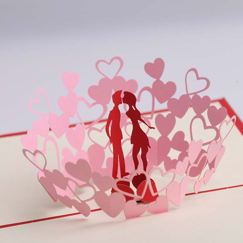 Hand 3d Stereoscopic Kiss Love Romance Sweet And Happy Valentine S