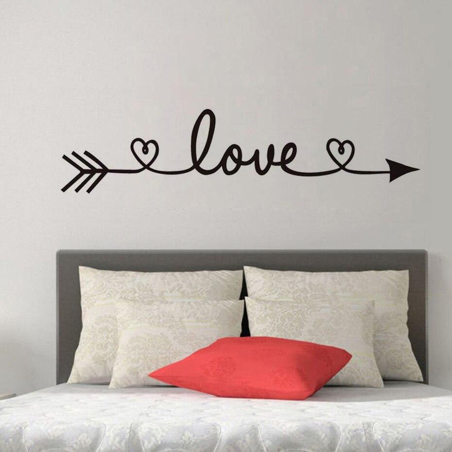 Aliexpresscom Buy Dctop Love Arrow Wall Stickers Romantic