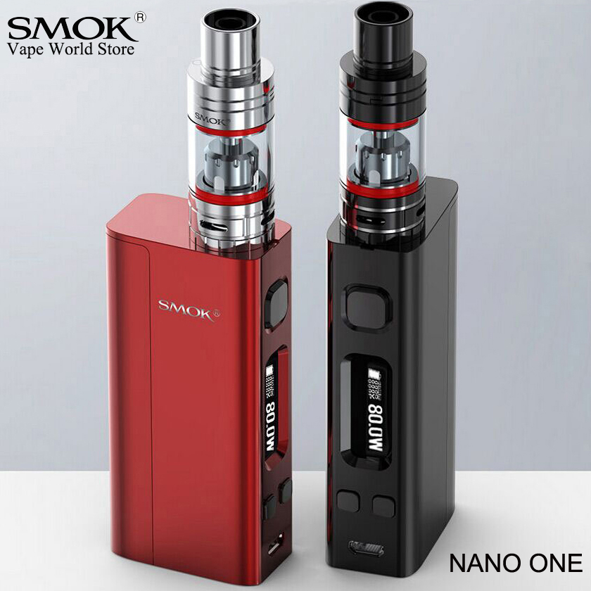 Smok nano uno cigarrillo electrónico vape r-steam mini 80 W caja MOD e hookah vs eleaf istick pico evic VTC mini Alien AL85 kit S009