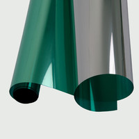 SUNICE Green&silver Window Film Mirrored Reflective Glass Window Tint UV Proof Home Buiilding Privacy 152cmX1000cm