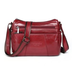 Image 1 - MEIGARDASS prawdziwej skóry Crossbody torby dla kobiet torba na ramię luksusowe torebki kobiet torba materiałowa portfele damskie Messenger torby