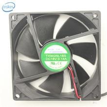 TX9025L18S холодильник термостат шкаф Вентилятор охлаждения DC 18 в 0.14A 6025 6 см 60*60*25 мм 2 провода