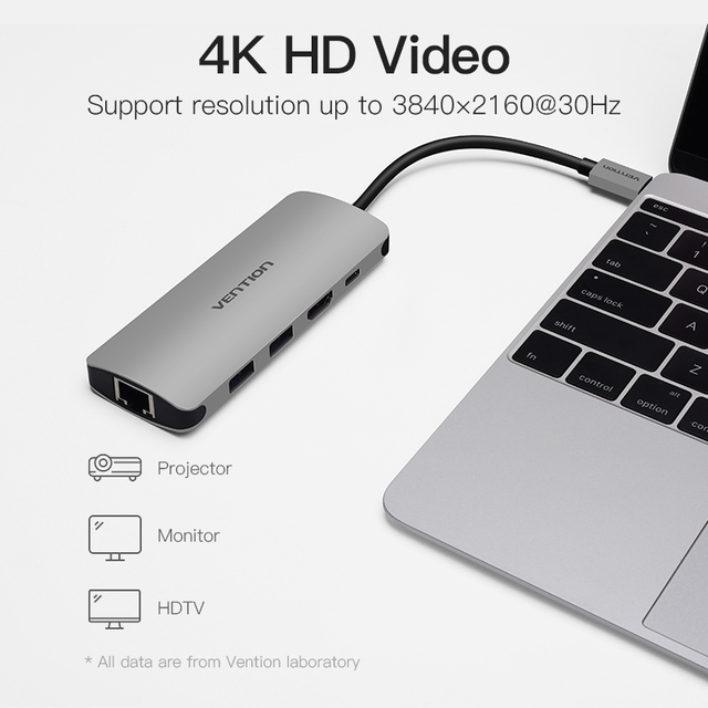 Multifunction USB C Adapter to HDMI USB 3.0 HUB
