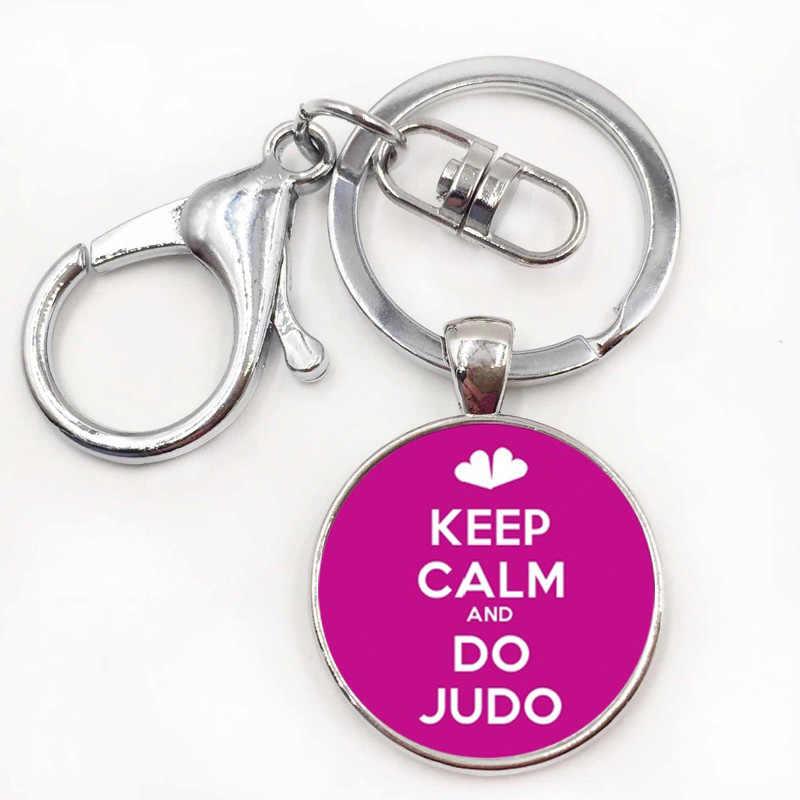 Nhãn hiệu novelty thời trang Tình Yêu Judo Karate keychain tinh tế ưa phụ nữ đàn ông thể thao giản dị chain key ring đồ trang sức