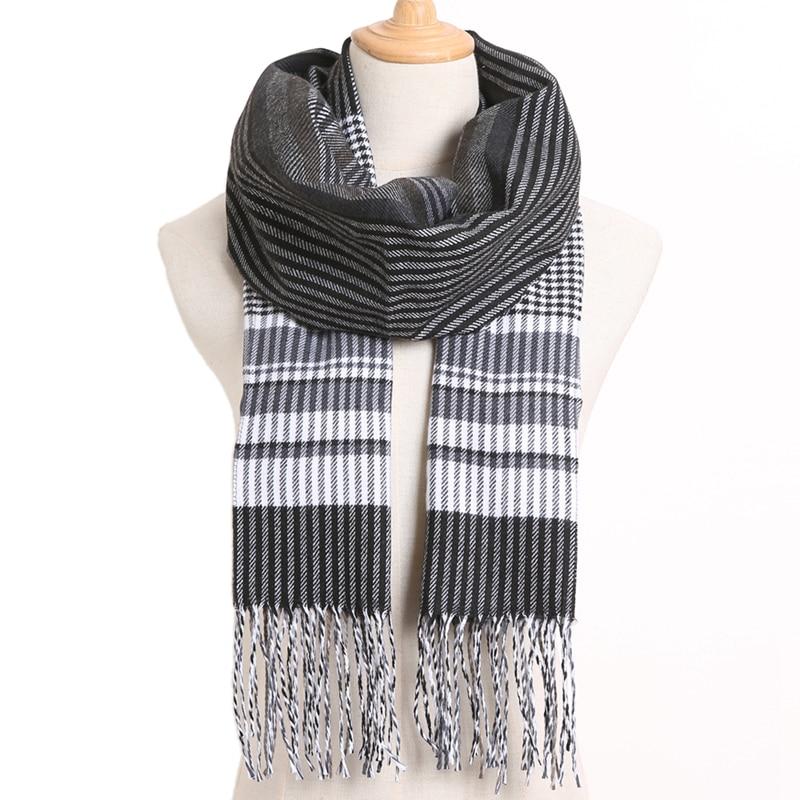 [VIANOSI] клетчатый зимний шарф женский тёплый платок одноцветные шарфы модные шарфы на каждый день кашемировые шарфы - Цвет: 50