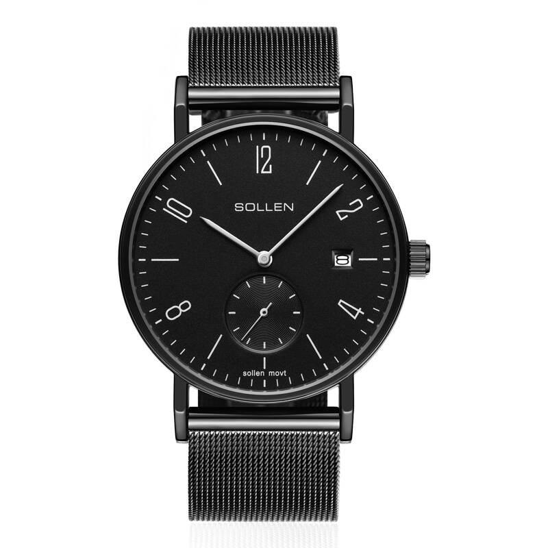 SOLLEN SL9045 watches men luxury brand Germany Bauhaus Milan stainless steel strap fashion mens watch large dial wristwatch