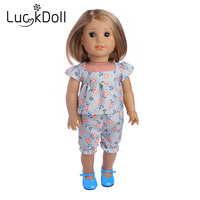 The new style of flower clothes for the 18 inch American dolls, children's best gift