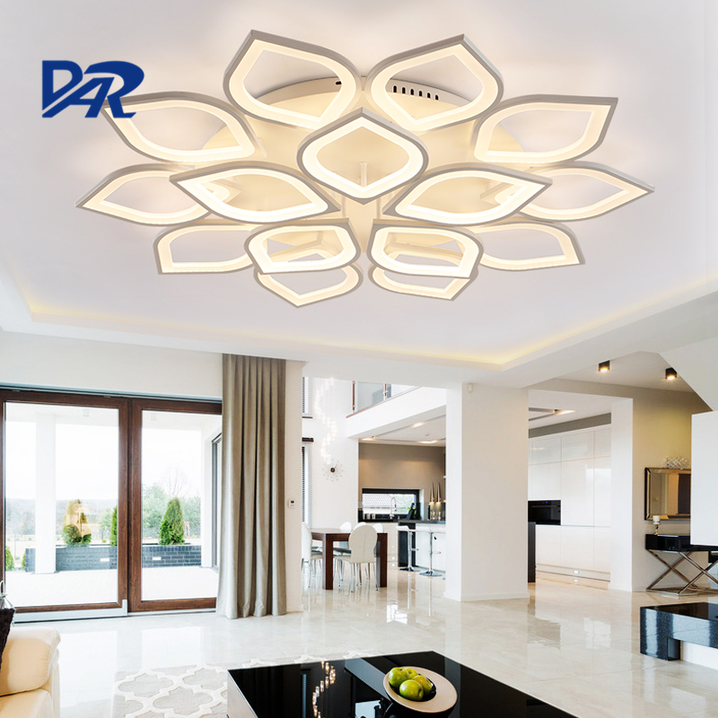 Creative Petal Modeling Acrylic Ceiling Lights For Living