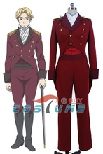 Aldnoah.Zero Martian Knight Cruhteo Uniform Wine Long Coat Pant Shirt For Men Anime Cosplay Costume