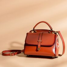 Vintage real leather handbags designer bags famous brand genuine leather women bag with removable shoulder strap