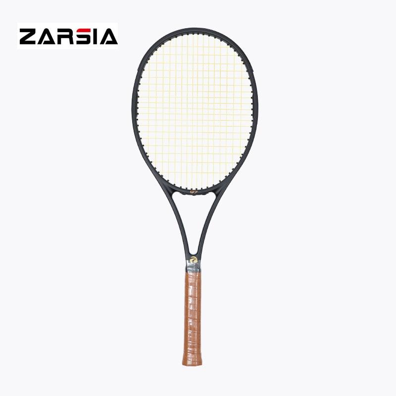 Здесь продается  2017 NEW High quality ZARSIA Tennis Racquets 100% graphite tennis rackets Full black 41/4,43/8,41/2 Free shipping  Спорт и развлечения