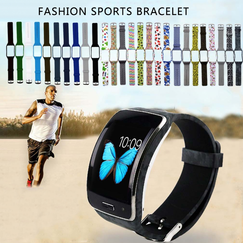 Silicone Watch Band Strap Replacement For Samsung Galaxy Gear S R750 Smart Watch