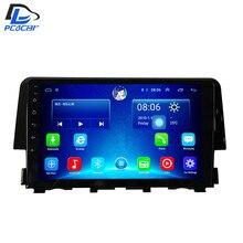 3G/4G net + WIFI stereo sistema de navegação dvd android 6.0 para Honda civic 2016 anos de carro gps multimedia player de rádio no painel de instrumentos