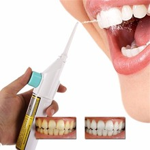 Portable Air Dental Hygiene Floss Oral Irrigator No Battery Dental Water Jet Cleaning Tooth Mouthpiece Mouth Denture Cleaner