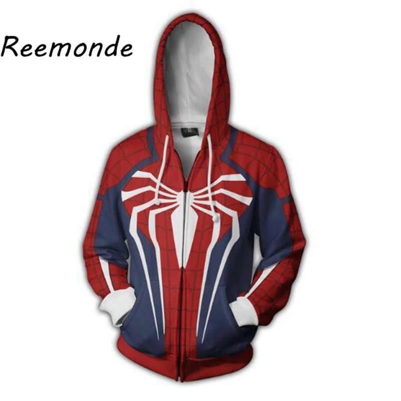 Marvel Movie Superman Cosplay Top Coat Voor Mannen Hoodie Sweater 3d Print Heren Mannelijke Hooded Rits Hoodies Jas Superhero