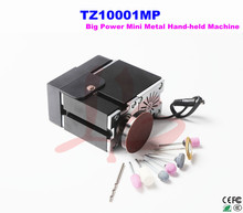 Electroplated Metal type! big power mini lathe hand-held machine TZ10001MP for DIY amateur