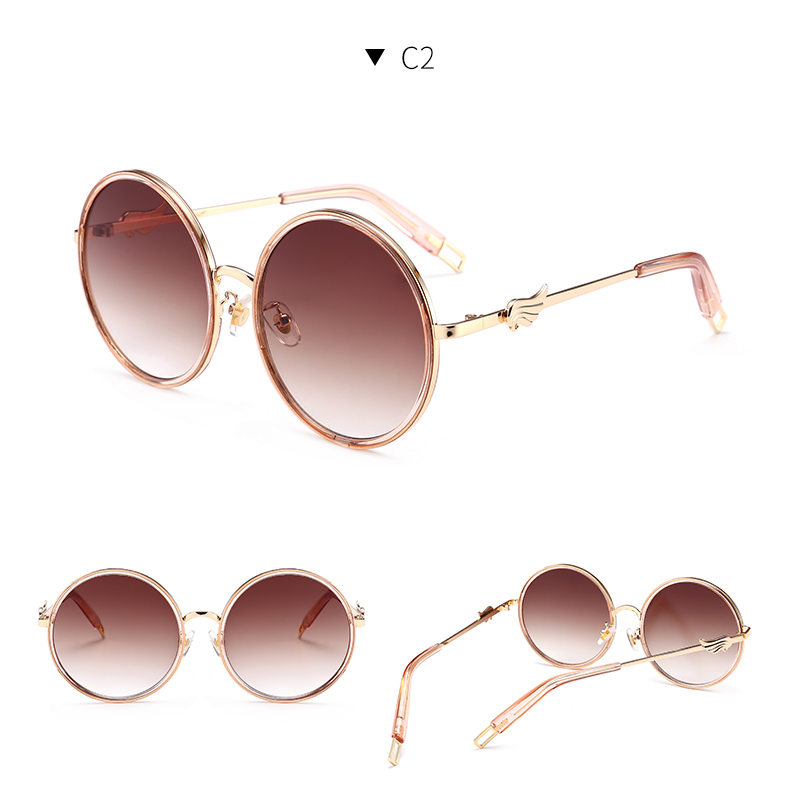2018 new KD73-89 personality sunglasses women fashion round sunglasses Italian fashion brand women designer pink glasses