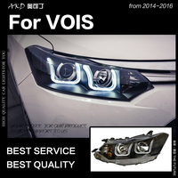 AKD Car Styling Head Lamp for Toyota Vois Headlights 2014 2016 New Vois LED Headlight LED DRL Hid Bi Xenon Auto Accessories
