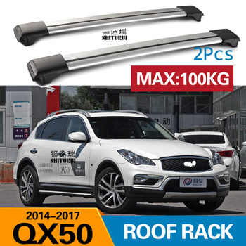 2 piezas barras de techo para infinitit QX50 2014-2017 aleación de aluminio 2012 barras laterales Cruz rieles barras de techo equipaje CUV SUV LED