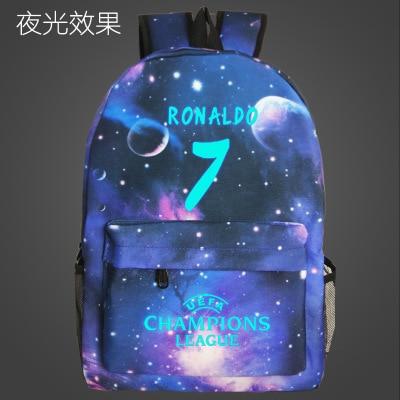 Fashion Juventus Printing Letter Backpack Women Shoulder Travel Bag Men Laptop Students School Bags Teenage Ronaldo Girl