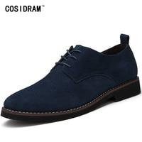 COSIDRAM Plus Size 45 Men Oxfords Faux Suede Leather Men Casual Shoes Spring Autumn Fashion Oxford
