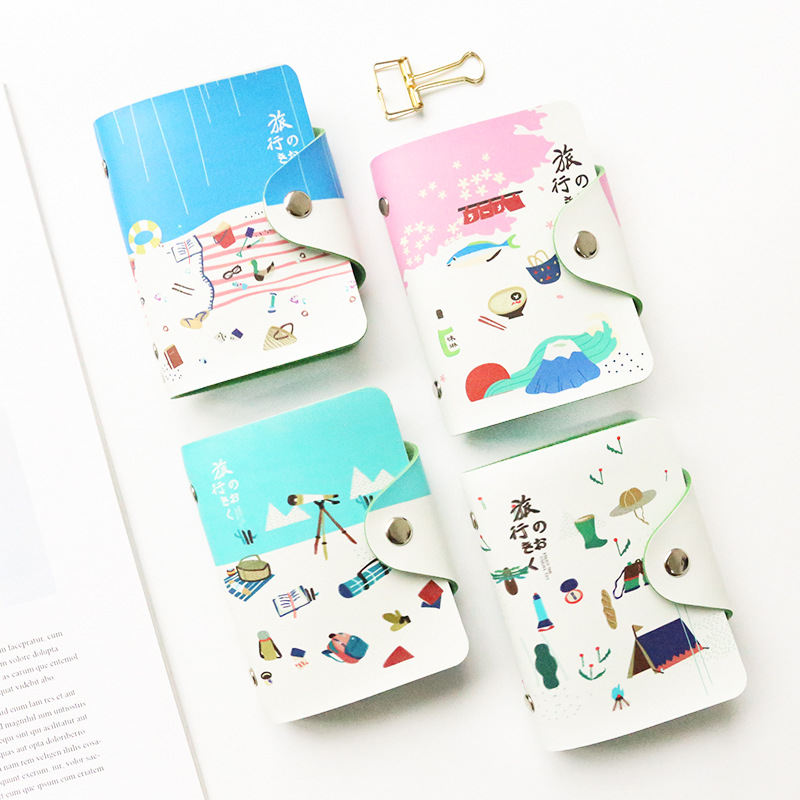 Office & School Supplies Coloffice Korea Fresh Cartoon Name Card Multi-card High-capacity Fruit Card Holder Anti-demagnetization Credit Purse 1pc Aromatic Flavor