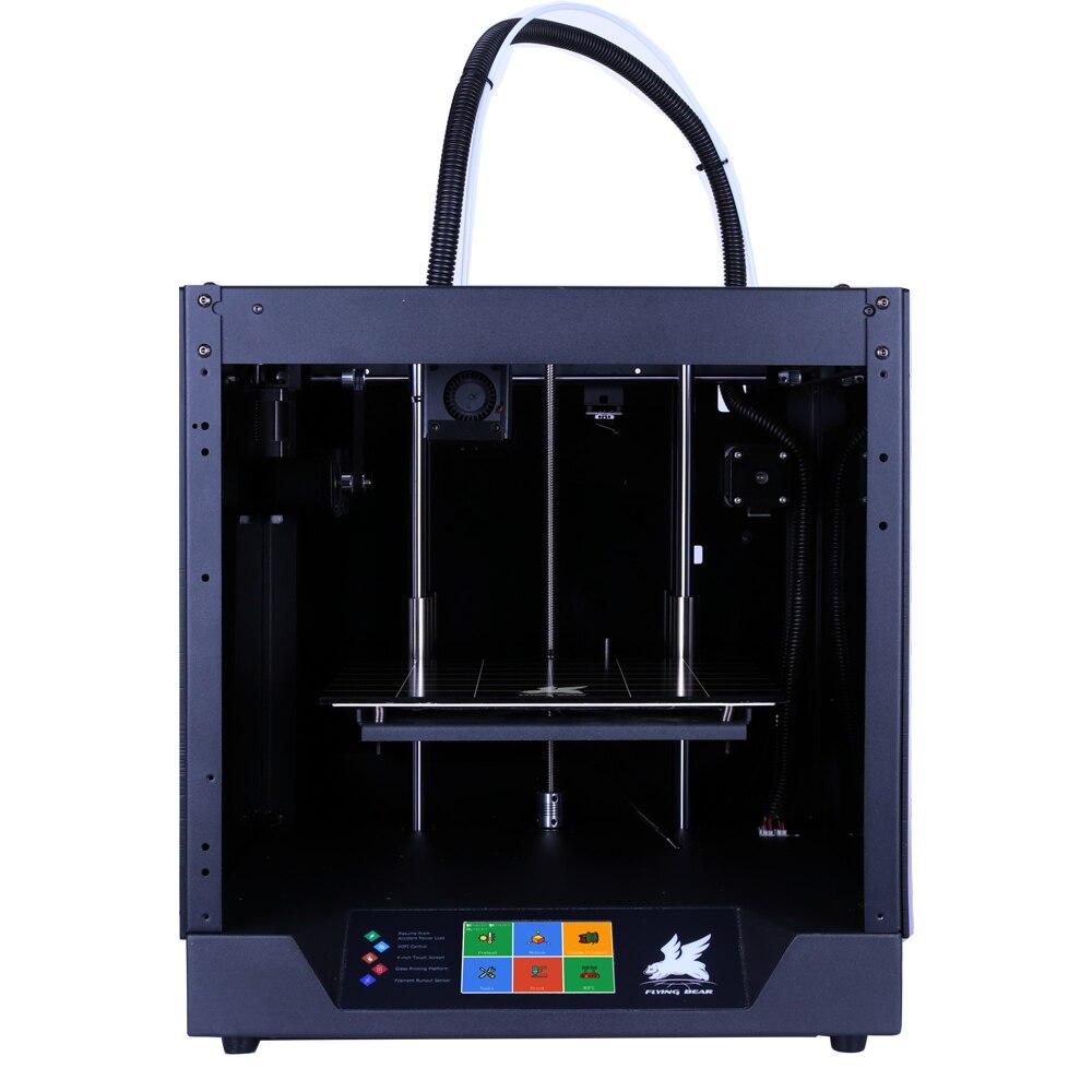 Frete grátis Flyingbear-Fantasma 3d Impressora de kit completo armação de metal de Alta Precisão impressora 3d imprimante impresora plataforma de vidro