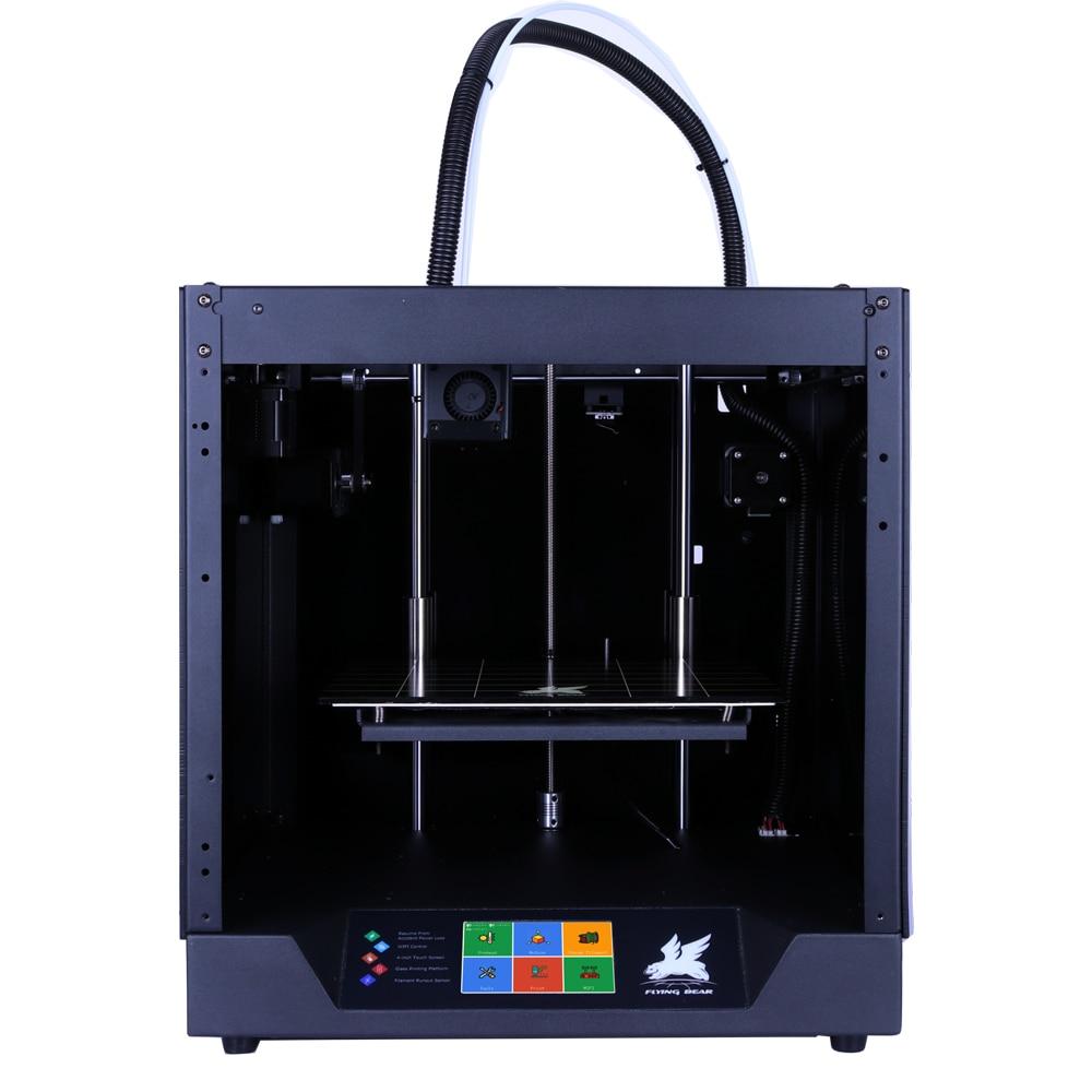 Trasporto libero Flyingbear-Fantasma 3d Stampante full frame in metallo di Alta Precisione 3d kit stampante imprimante impresora piattaforma di vetro