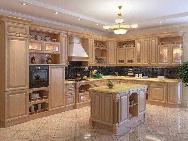 Teak kitchen furniture with solid range hood cover-in Kitchen ...