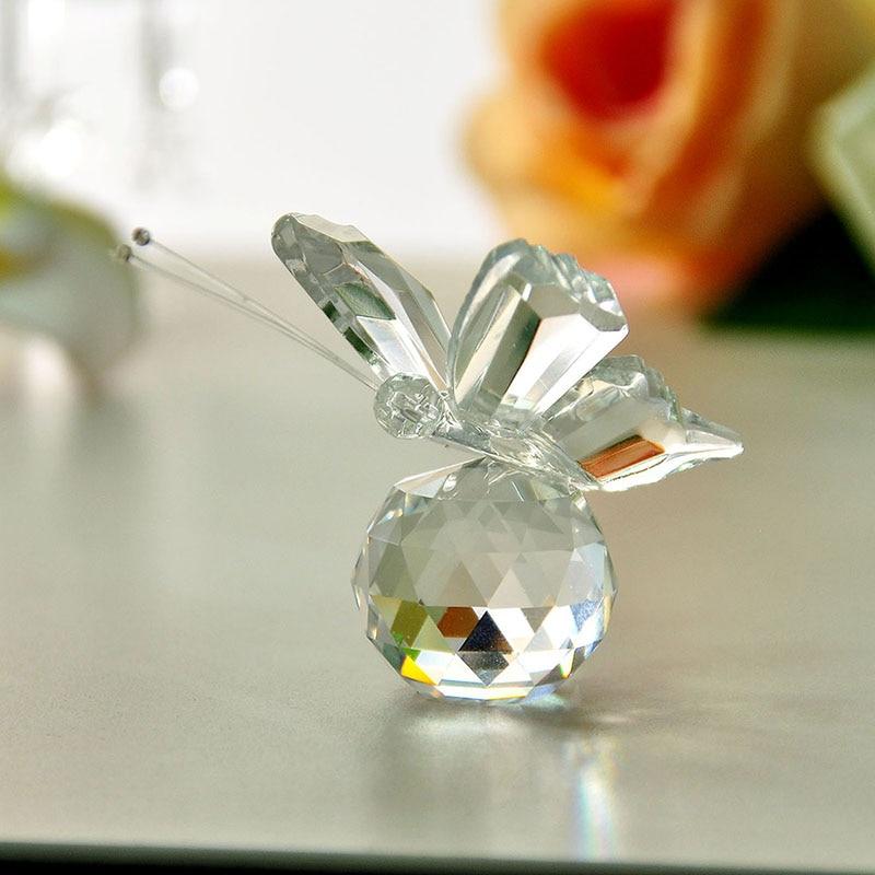 H & D κρύσταλλο πεταλούδα καθαρό - Διακόσμηση σπιτιού - Φωτογραφία 2