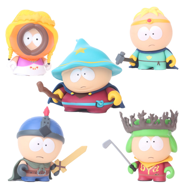 NEW 5pcs/set 6cm 2 South Park 2018 Mini PVC Action Figure Toys Dolls New Free Shipping model building 6pcs set anime cartoon cute egg doraemon mini pvc action figure toys dolls 4 6cm of079