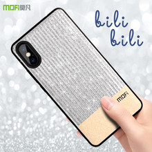 Mofi para iphone x caso para iphone x caso capa bling glitter ouro para iphone x caso(China)