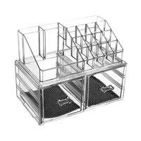 A1 Two drawer acrylic transparent cosmetics storage box large dresser plastic skin care finishing LU10291757