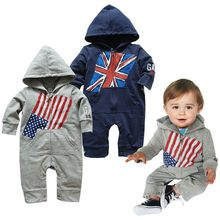 173ec50c3176 American Flag Baby Boy Romper for Infantil Bebe Jumpsuit Kids Overall  Fashion Spring Autumn Infant Clothes Toddler Boy Clothing